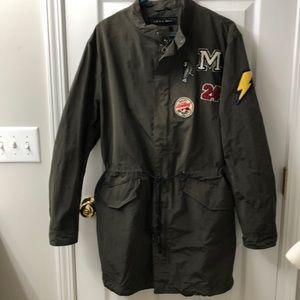 Zara Man bomber jacket (long length)